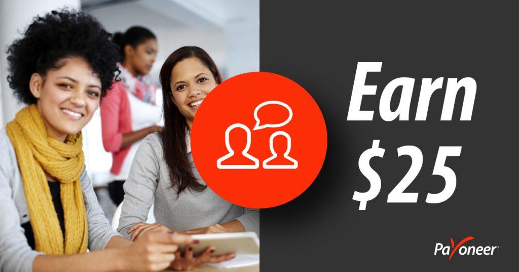 Payoneer referral program $25