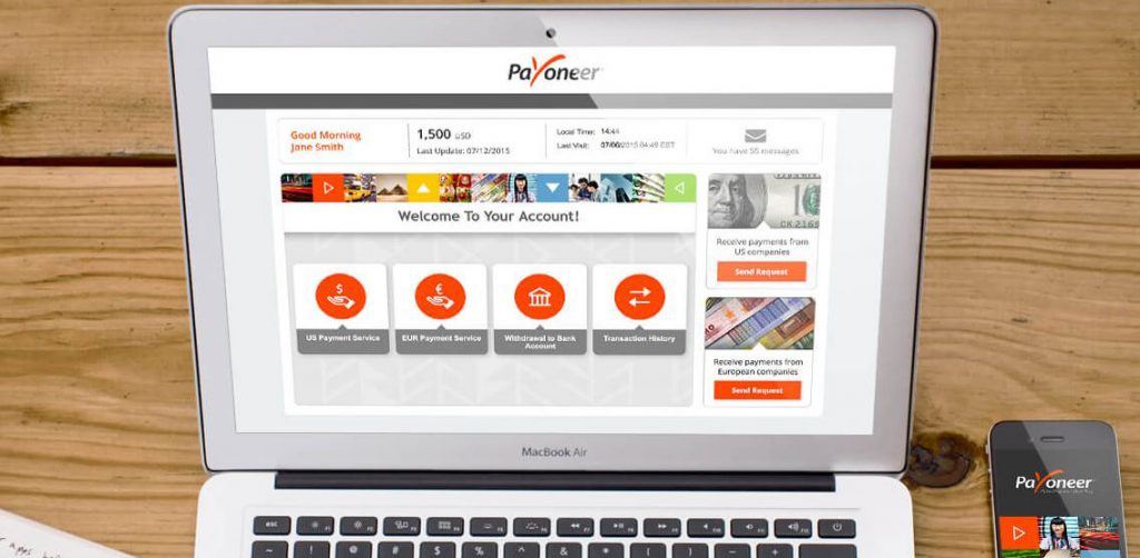 Payoneer sign up reward
