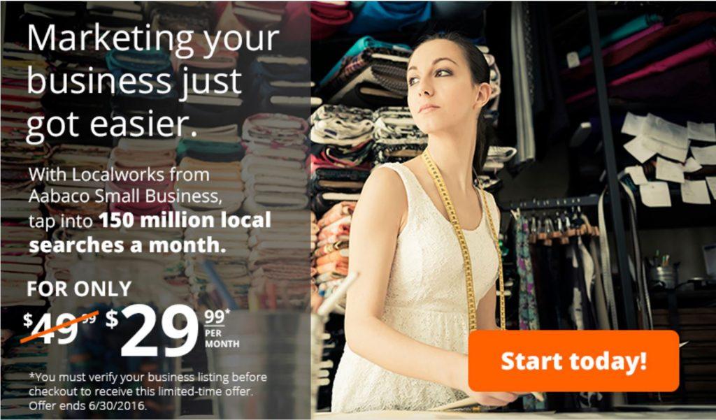 Yahoo Localworks promo code