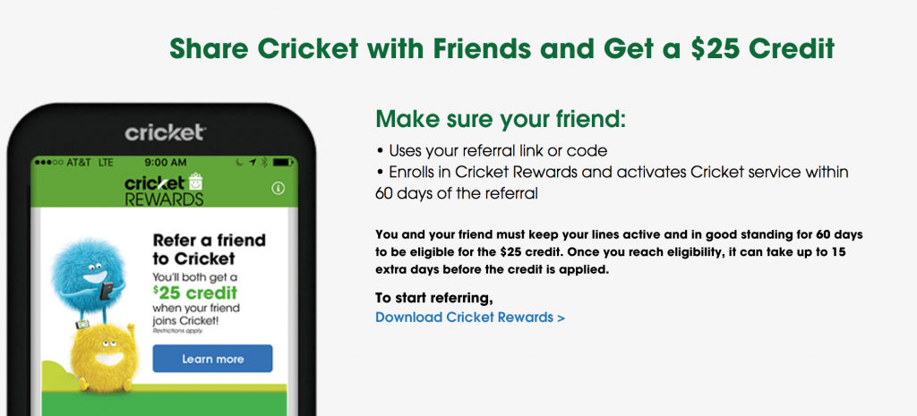 Redeeming Cricket Rewards Code