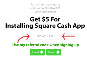 Square Cash free $5 for signup copy