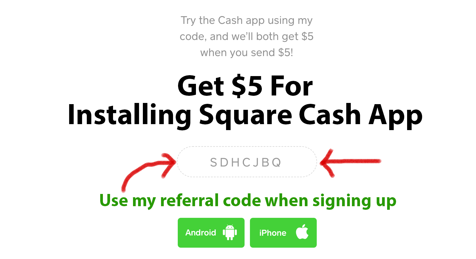 Square Cash Referral Code 'SDHCJBQ': Get $5 On Square Cash App