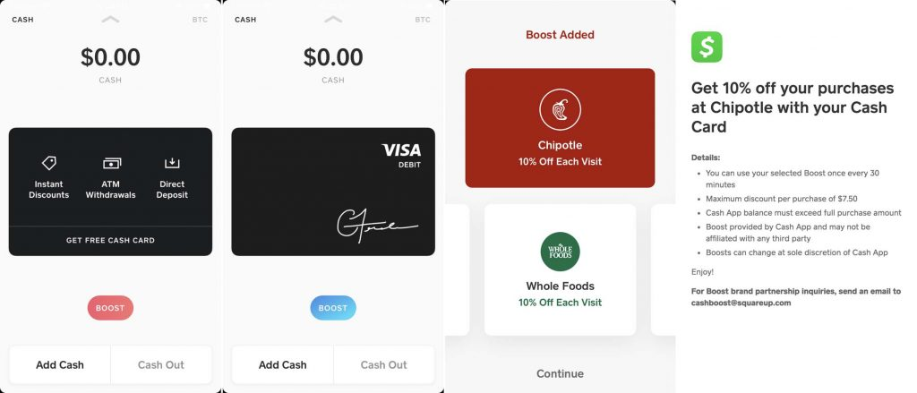 Square cash app card