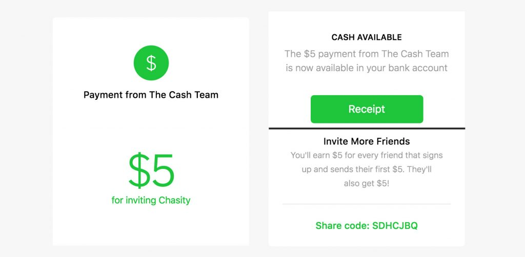 Square cash free money code