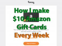 honey app proof I earn $10 Amazon giftcard from Honey