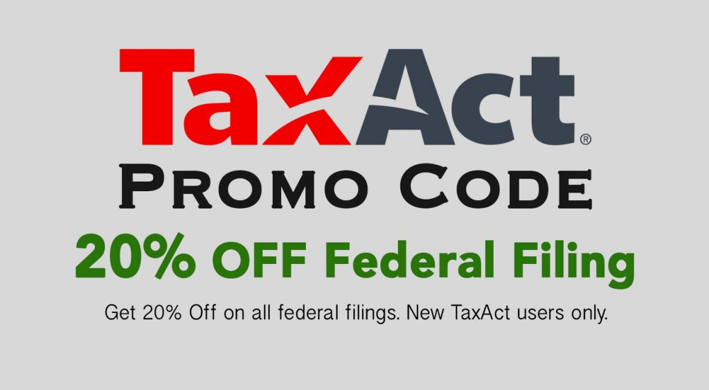 Apply this TaxAct promo code for 20% OFF