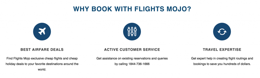 Flights Mojo flights booking