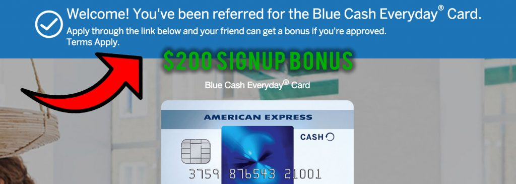 Amex Blue Cash everyday referral