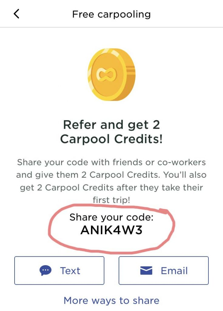 free carpooling scoop code