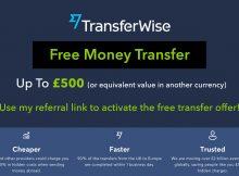 Transferwise free transfer offer